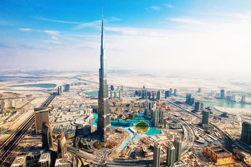 View from top Burj Khalifa Dubai