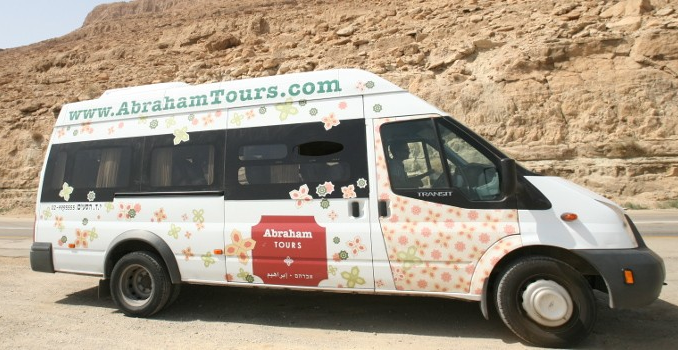 Abraham Tours shuttle bus