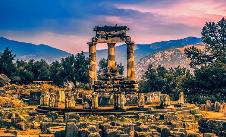 view on delphi, greece