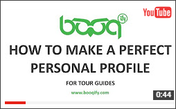 how to make a personal profile for tour guides