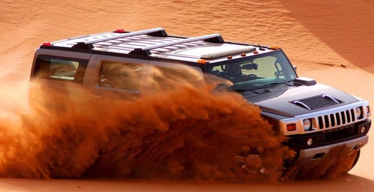 Desert safari with Hummer in Dubai