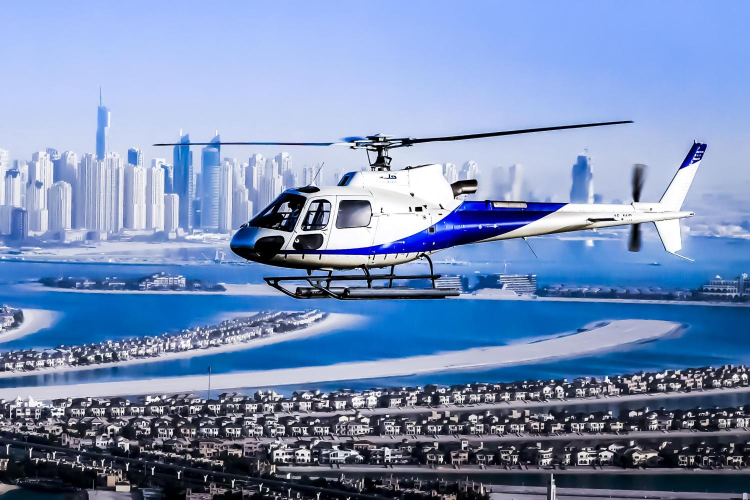 Helicopter above Dubai