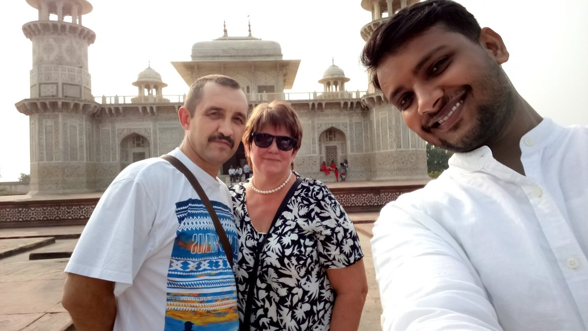 Haider with clients
